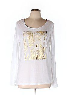 Ann Taylor LOFT Women Long Sleeve T-Shirt Size L