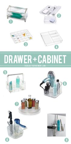 great storage and organization ideas for inside drawers and under cabinets