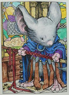 Mouse Guard, David Peterson ,caran d'ache Neocolour II , Luminance