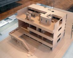 Villa Stein, designed by Le Corbusier, was built in 1927 at Garches, France. Model.
