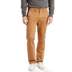 Men's Levi's® Stretch Straight Chino Pants, Size: 38X30, Brown Oth