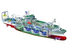 This 3D render of a mechanical illustration shows a design from Tyco International's fleet of transoceanic, cable-laying ships. Created by Nick, a FormZ RenderZone user, which has an integrated LightWorks rendering engine. The final images were so realistic that it actually helped the designers and engineers to tweak and revise their construction plans.