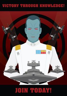 Hello there, Here's the second Imperial recruitment poster I made over the past few weeks. Reading the book Thrawn Alliances inspired me to f. Images Star Wars, Star Wars Pictures, Star Wars Poster, Star Wars Art, Grand Admiral Thrawn, Star Wars Novels, Star Wars Tattoo, Star Wars Wallpaper, Star Wars Episodes