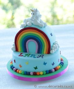 Magical Rainbow Unicorn cake.