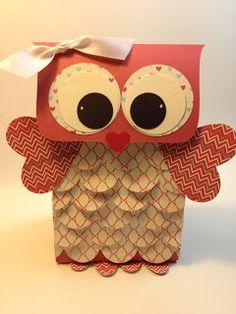 Owl Valentine Treat Gift Bag Valentine Treats, Valentine Box, Little Valentine, Happy Valentines Day, Valentine Day Crafts, Holiday Crafts, Saint Valentin, Owl Box, Favorite Things
