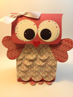 Owl Valentine Treat Gift Bag