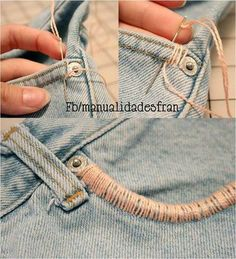 easy pocket jeans renovation