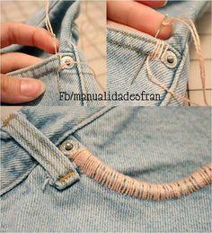 easy pocket jeans renovation