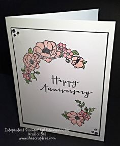 Stampin' Up Timeless Love Stamp Set  Stampin' Up! Anniversary card. See more at The Scrap Tree www.thescraptree.com
