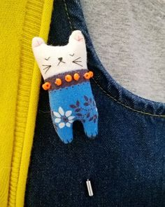 modflowers kitty brooch
