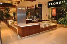 Watch kiosk in Aventura Mall, Aventura, FL.   High-end feel that showcases the large product line while also enhancing and promoting the value of each individual piece.