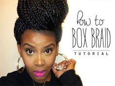 NATURAL HAIR | HOW TO START BOX BRAIDS