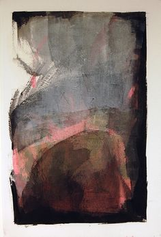 ♒ Art in the Abstract ♒ modern painting - Passages by Karen Darling- oil and cold wax on paper