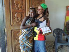 Rosie Peppy Parke working with a school in  Ghana, West Africa