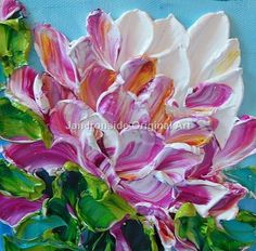 Oil Painting Peony oil painting original by IronsideImpastos