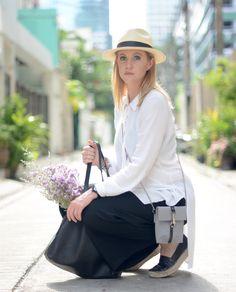 Tunic - Culottes - Panama Hat - Bangkok - Tropics - What to Wear in Bangkok  A PIECE OF ELISE