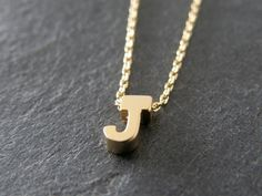 Personalized Necklace, Tiny Letter J Necklace, Alphabet Necklace, Simple, Modern, Everyday by Littlemissjdesigns on Etsy https://www.etsy.com/listing/181756602/personalized-necklace-tiny-letter-j