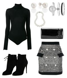 """""""Untitled #77"""" by ramatic on Polyvore featuring Balmain, Unravel, Tom Ford, Yves Saint Laurent, SO & CO and Bling Jewelry"""