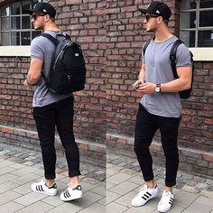 Streets.* _______________________ Shirt by @zara Jeans by @manieredevoir Backpack by @manieredevoir Shoes by @adidasoriginals
