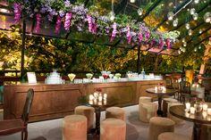Decoração aérea para bar - Casamento moderno