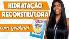 Reconstrução caseira com GELATINA! | Receita e Aplicação!