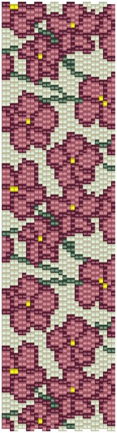 pencio - peyote pattern 2 drops flowers