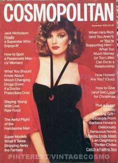 Cosmopolitan magazine, DECEMBER 1976 Model: Rene Russo Photographer: Francesco Scavullo
