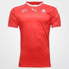 Camisa Seleção Suiça Home 2016 s nº Torcedor Puma Masculina - Compre Agora 566f05c4a5755