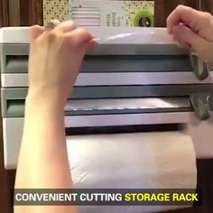 Bearing cutting frame This is a multiple function kitchen storage to work as a paper towel rack, cling wrap aluminum foil roll dispenser, small sauce spice bottle storage shelf. With it, easy access to your kitchen necessities. - Own Kitchen Pantry