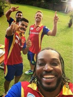 So much greatness in a single pic #Cricket #ChrisGayle #ViratKohli #ABD…