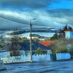 I live in a post card. who knew stopping for petrol would be this beautiful . Dublin City, Post Card, Dublin Ireland, Travelers Notebook, White Christmas, Snow Globes, Mountains, Live, Instagram Posts