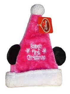 1c7edda4134f0 Disney Disney Mickey Minnie Mouse Ear Santa Hat My First Christmas Baby 0
