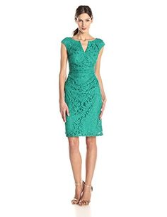 $140 Adrianna Papell Women's Draped Lace Sheath Dress • Shopping Cheap Online