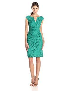 $140 Adrianna Papell Women's Draped Lace Sheath Dress • Shopping Cheap Online