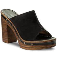 Șlapi LASOCKI - F541 Negru Wedges, Shoes, Fashion, Moda, Zapatos, Shoes Outlet, Fashion Styles, Shoe, Footwear