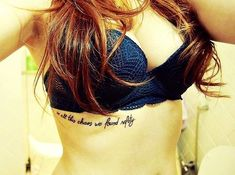 Sexy Side Rib Quote Tattoos for Girls - Small Black Side Rib Quote Tattoos for Girls - LoveItSoMuch.com