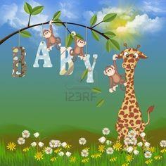 baby jungle animals  Stock Photo
