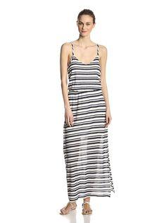 Splendid striped tank maxi dress