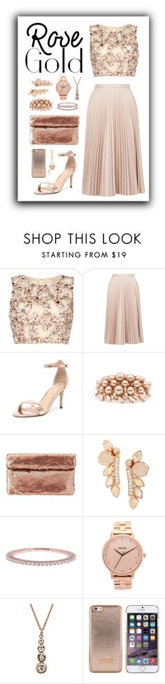 """rose gold"" by beaxtiz ❤ liked on Polyvore featuring Raishma, Topshop, Verali, Ellen Conde, Charlotte Russe, Kendra Scott, Argento Vivo, Nixon, Karen Millen and Ted Baker"