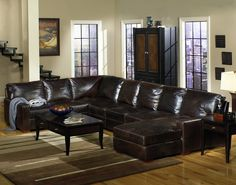 You have finally found the leather sectional you've been longing for! This collection features almost 4 feet in seating depth and covered in 100% top grain leather upholstery. Your family and guests will never want to get up from this handsome, comfortable, and sleek sectional!