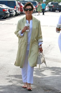 Kris Jenner Duster - Fashion Lookbook - StyleBistro