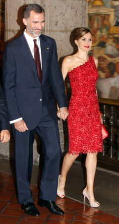MyRoyals: Spanish Visit to Mexico, June 29, 2015-Queen Letizia and King Felipe attend a dinner