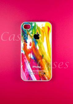 Colorful Paint Iphone 4s Case, Iphone Case, Iphone 4 Case. $14.99, via Etsy.