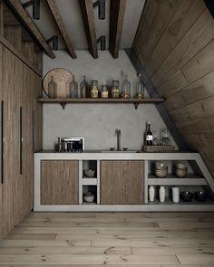 Una cabaña de ensueño en Lake Tahoe, California A Frame House Plans, A Frame Cabin, Tiny House Plans, Interior Exterior, Interior Architecture, Interior Design, Architecture Sketchbook, Cabin Design, Tiny House Design