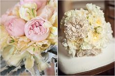 Inspiration for vintage style wedding flowers from the simple to the extravagant including DIY bouquets, mason jar centerpieces, stylish boutonnieres and brooch bouquets.