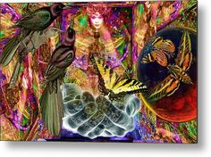 Thinking Metal Print featuring the digital art Solar Summit Paris Paradise by Joseph Mosley