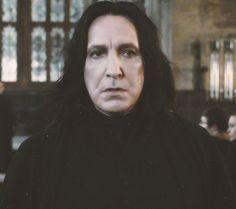 Alan Rickman as Professor Severus Snape in the Harry Potter movies.