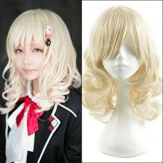 50cm Yellow Medium Wavy Anime Diabolik Lovers Yui Komori Cosplay Harajuku Women's Wigs Cheap Synthetic Hair Women Blonde Wig-in Synthetic Wigs from Health & Beauty on Aliexpress.com | Alibaba Group