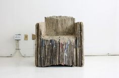 The Reborn cardboard sofa is made of 127 used cardboard boxes