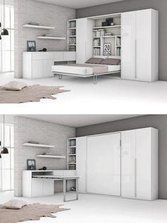 die besten 25 schrankbett klappbett ideen auf pinterest g stebett klappbett murphy bett b ro. Black Bedroom Furniture Sets. Home Design Ideas